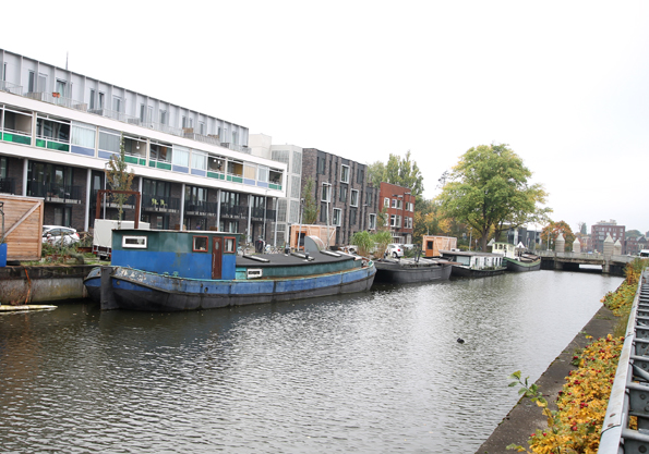 Groninger tjalk te koop · Ligplaats: Groningen stad  · De tijd zal t Leeren Oosterhamrikkade Groningen · ref 1045 · Scheepsmakelaardij Fikkers
