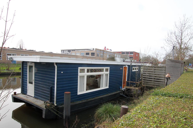 woonark te koop · Ligplaats: Hoendiep 1017 Groningen  · FLIEREFLUITER · ref 1145 · Scheepsmakelaardij Fikkers