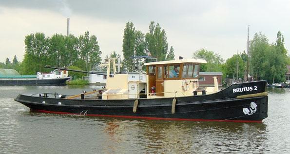 Sleepboot te koop · Ligplaats: Den Helder · BRUTUS 2 · ref 9045 · Scheepsmakelaardij Fikkers